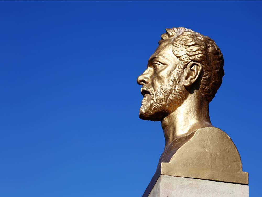 Bust of French architect Gustave Eiffel