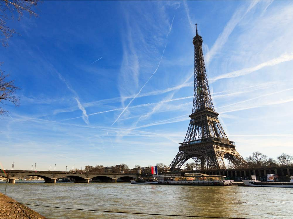 Eiffel Tower in the afternoon