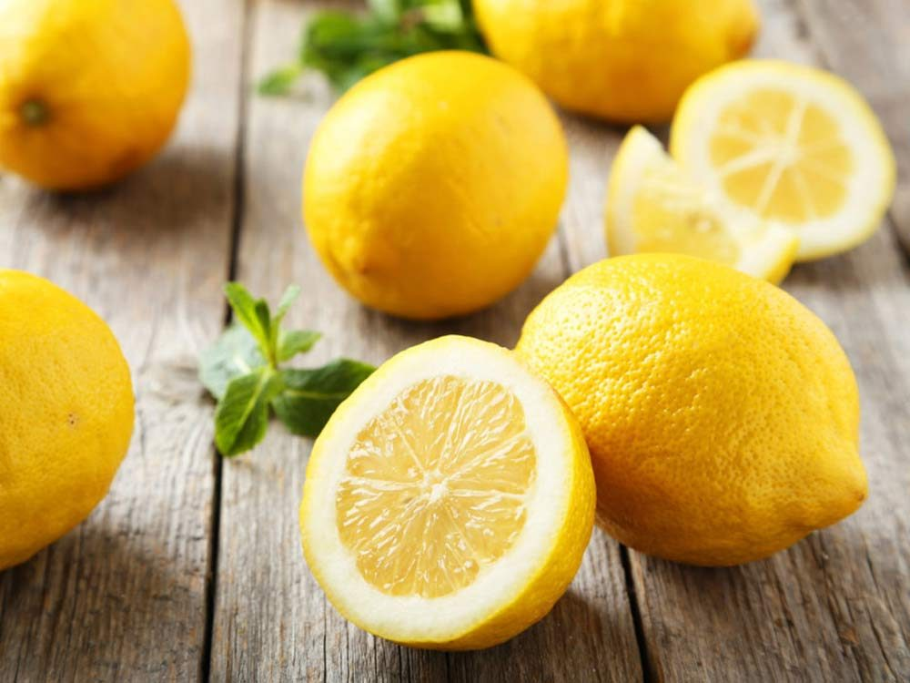 Lemon sliced in half