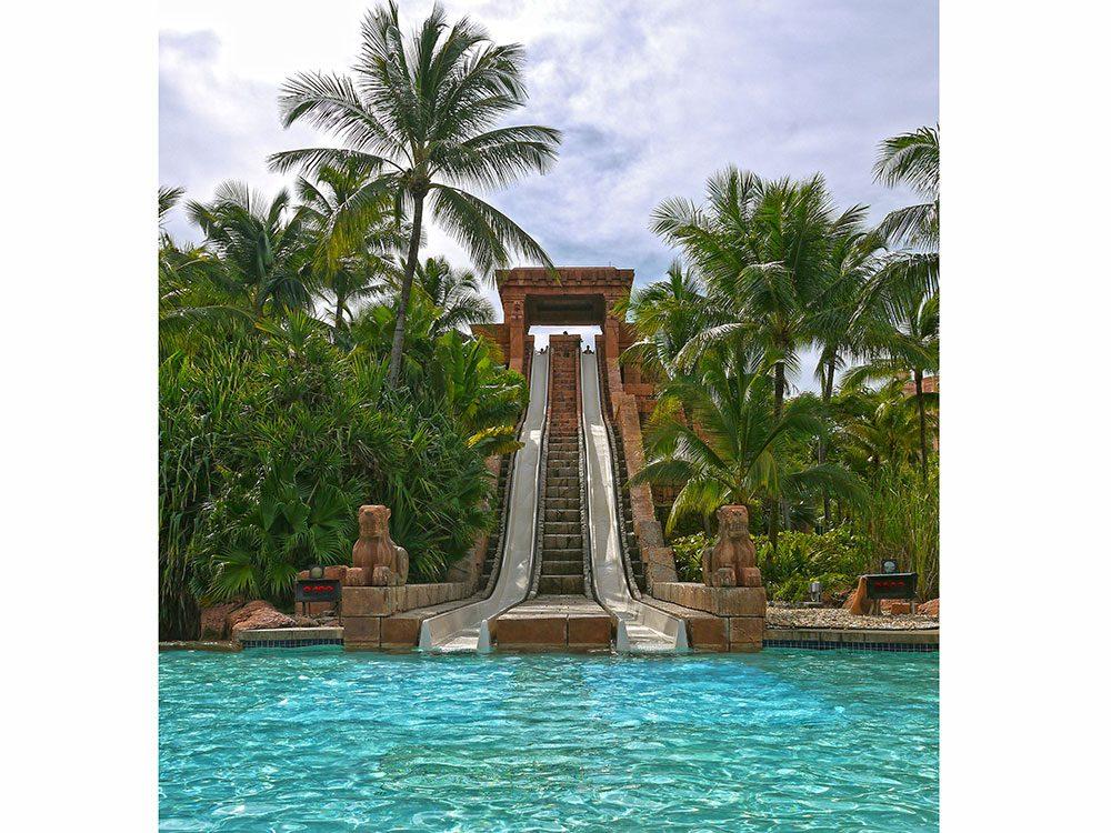 Leap of Faith waterslide, Atlantis Resort, Bahamas