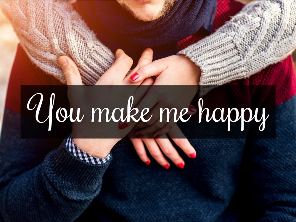 Verbalize your happiness with your spouse