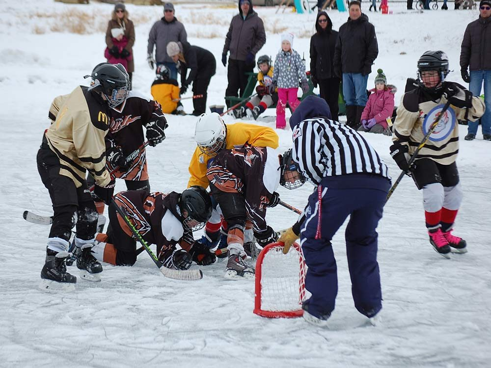 Hockey tournament in Morinville, Alberta