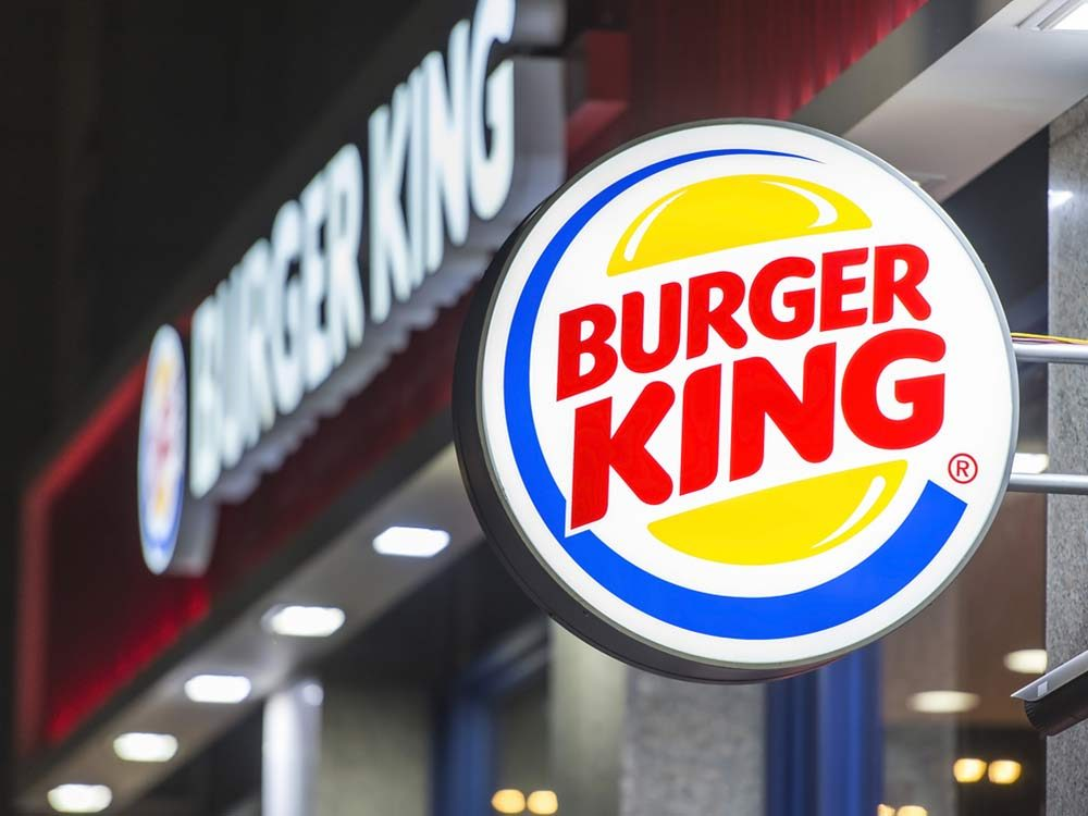Burger King location with signage