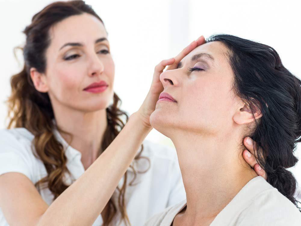 Patient undergoing hypnosis
