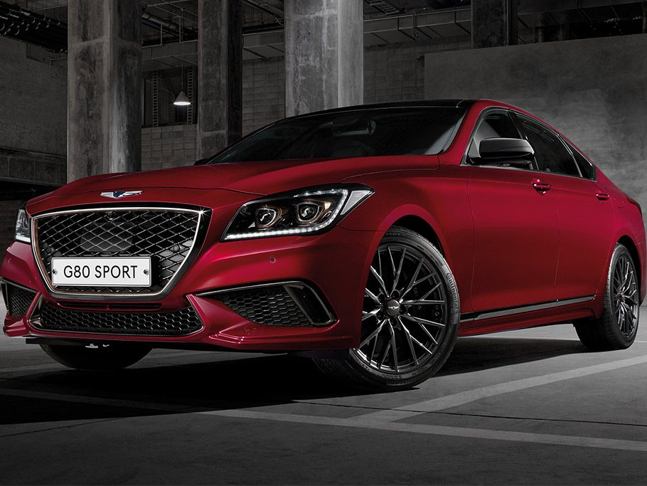 Genesis G80 Sport - front angle