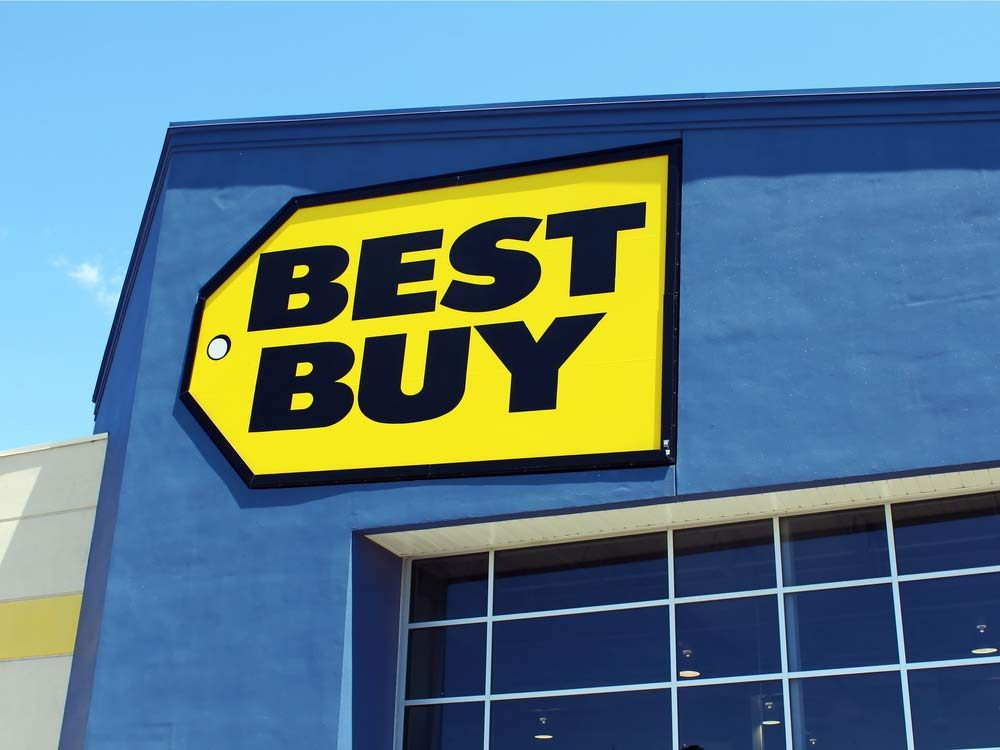 Best Buy store sign