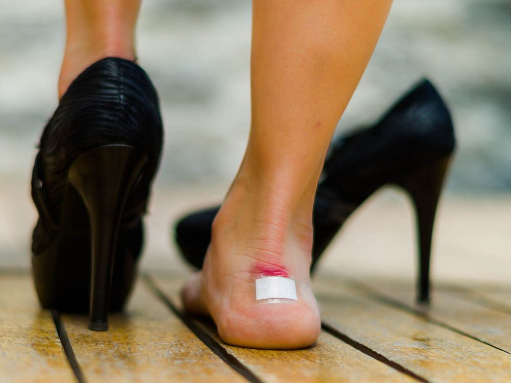 Poorly-fitting shoes is an outfit mistake that can make you look messy