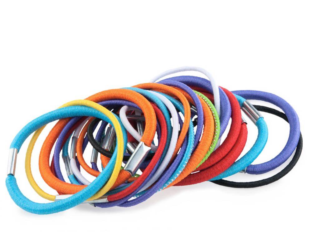 Hair-tie bracelets
