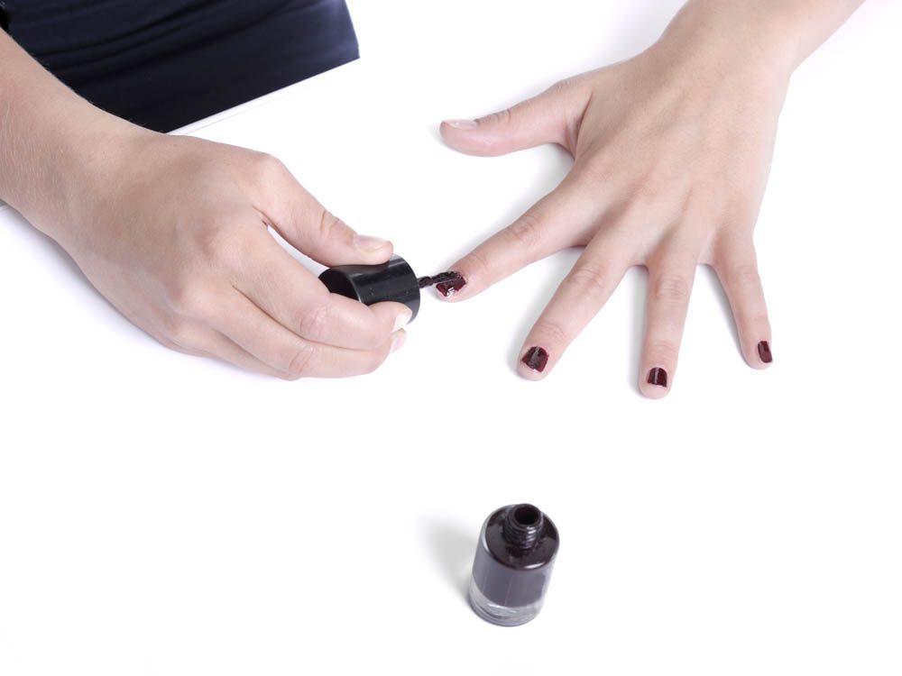 Chipped nail polish