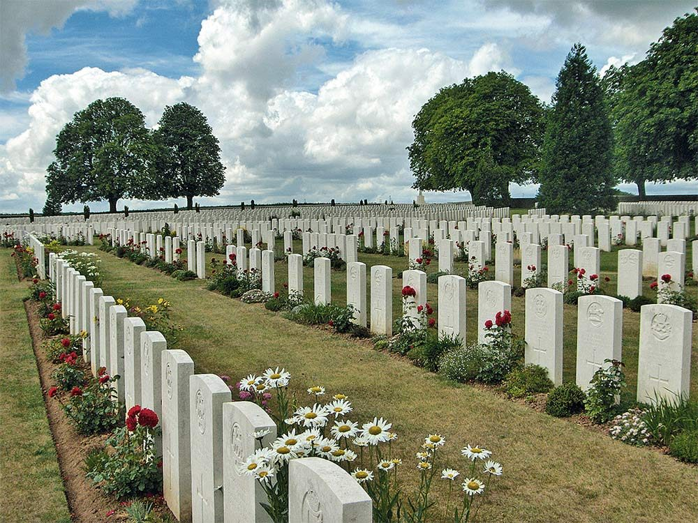 Commonwealth cemetery at Vimy Ridge Historic Site