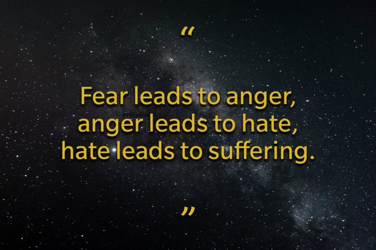 Star Wars quotes - Fear leads to anger
