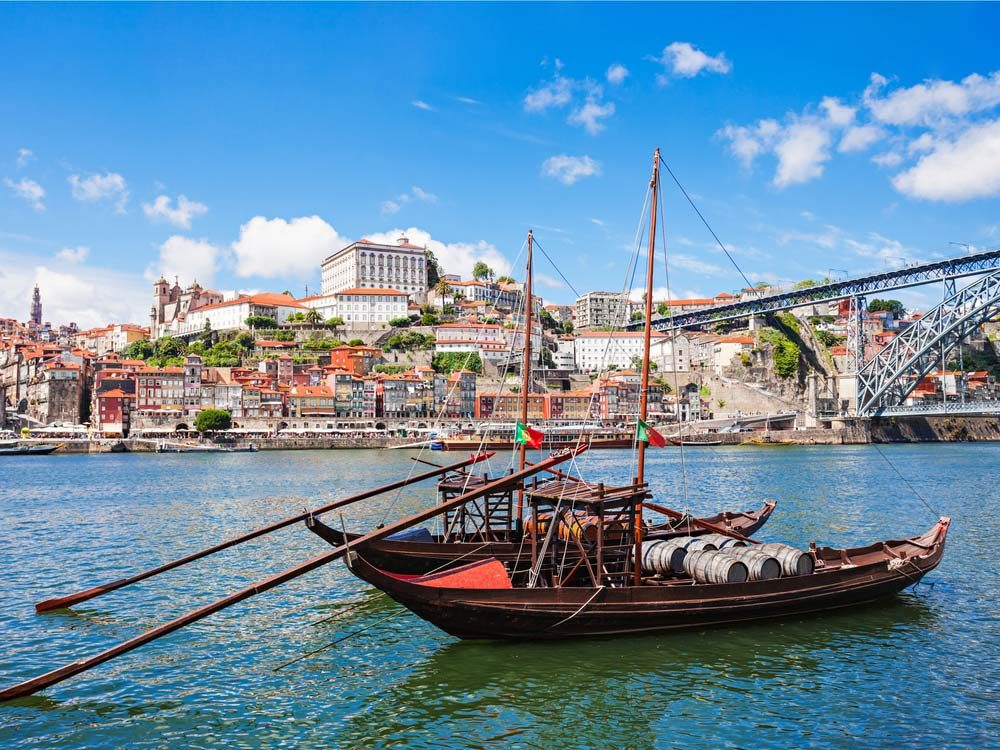 Traditional boats in Portugal