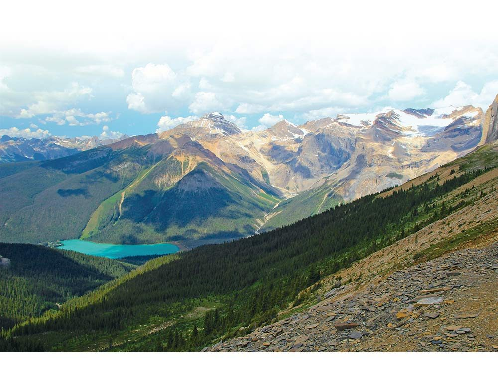 Emerald Lake as view from the Burgess Shale