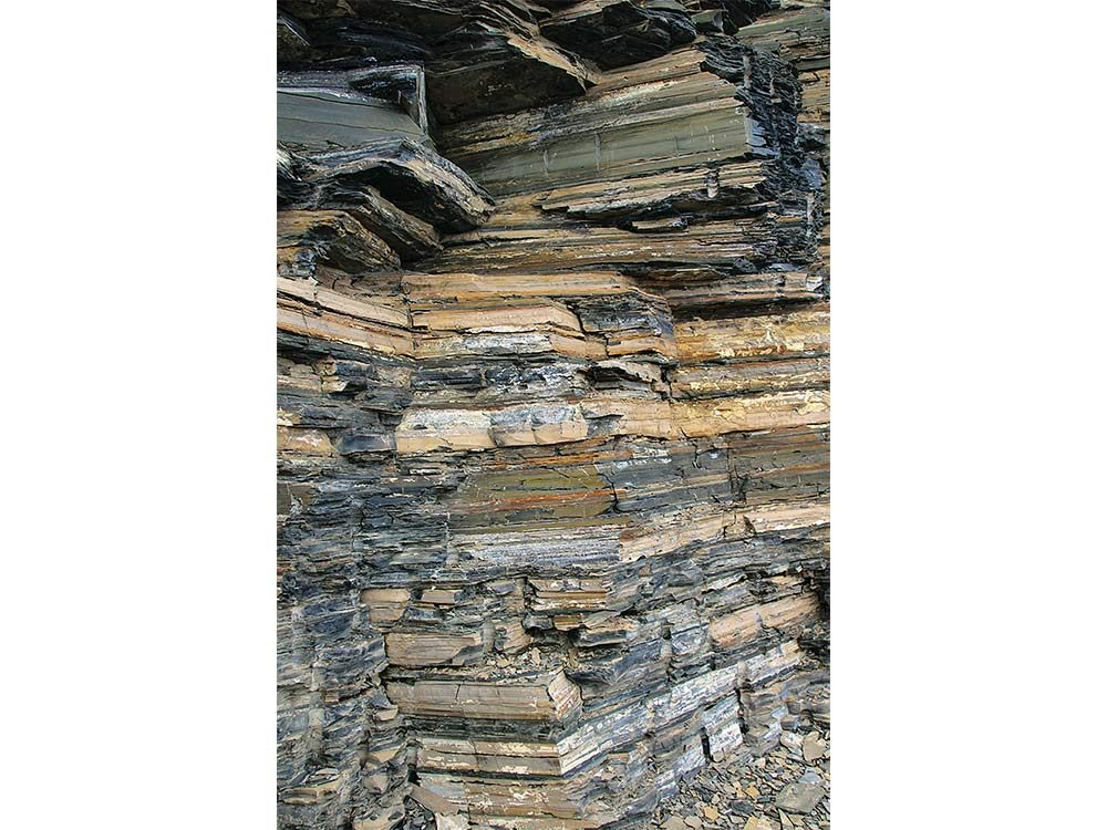 Layers of rock accumulated over millions of years