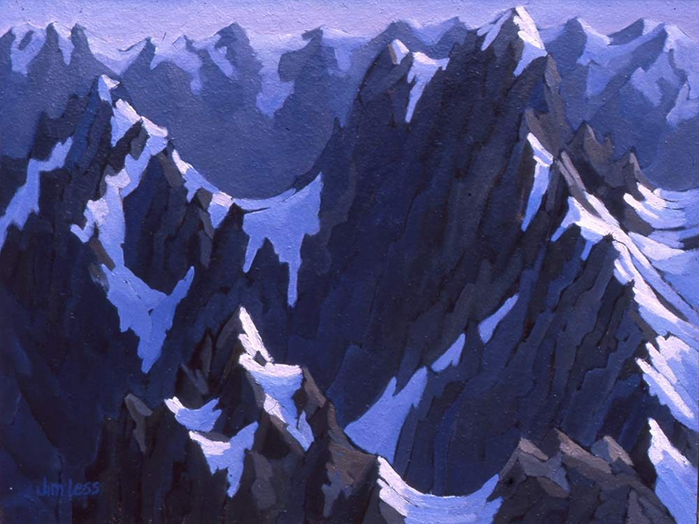 Jim Less's painting of Mount Homer