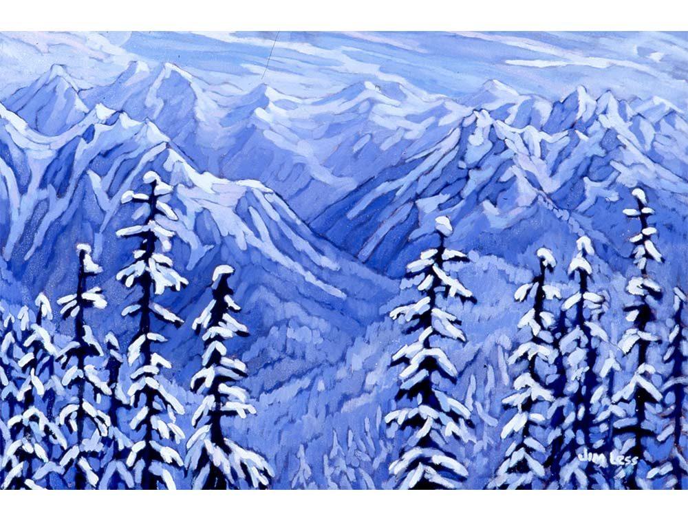 Lardeau Creek painting