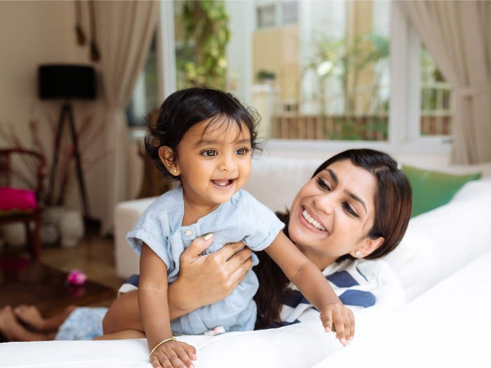Indian mother and young daughter