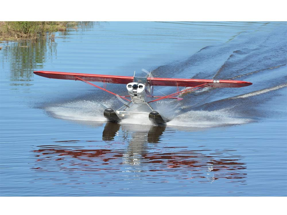 Airplane landing in river