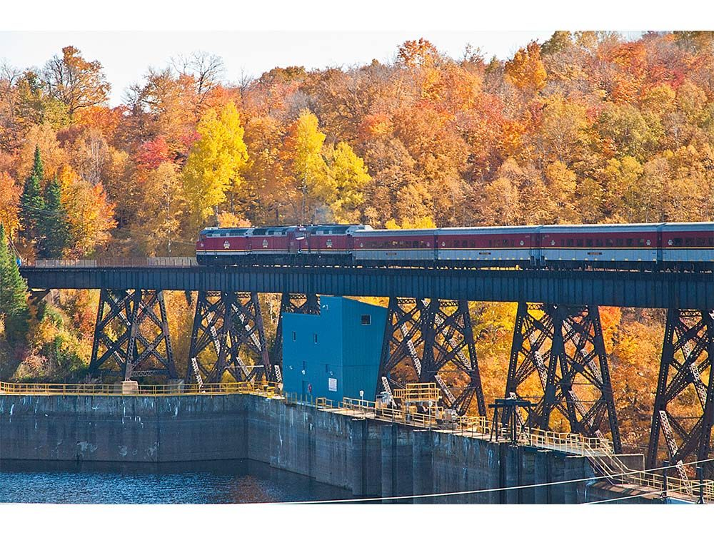 Railway across the Montreal River