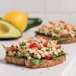Open-Faced Avocado Tuna Sandwich