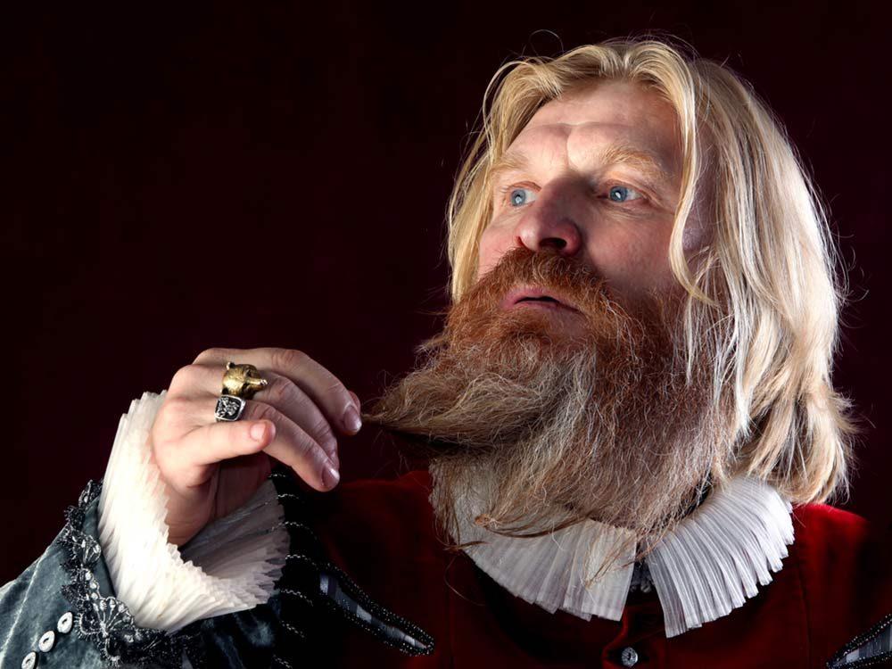 Bearded Victorian actor