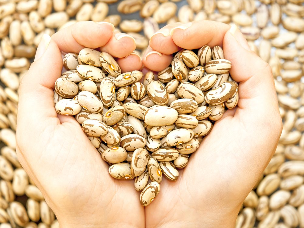 Bean have the health benefit of lowering cholesterol