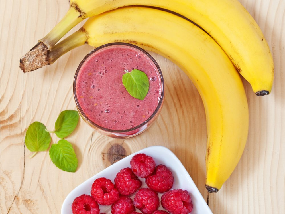 Raspberry banana bites are a no-guilt healthy snack ideas