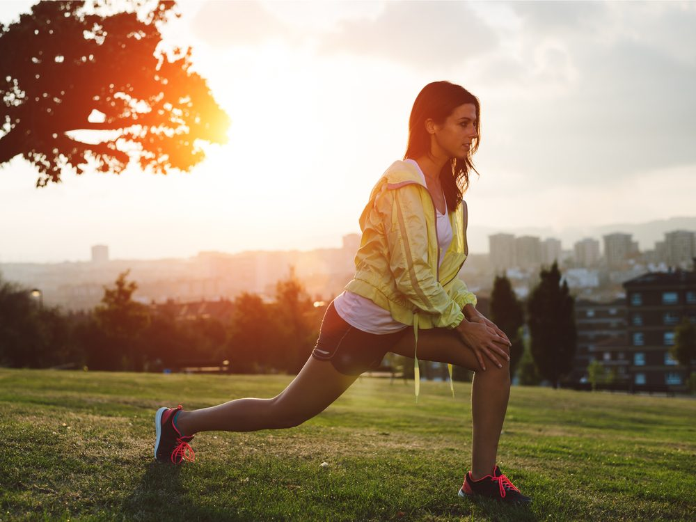 Working out at dusk can provide relief from allergies