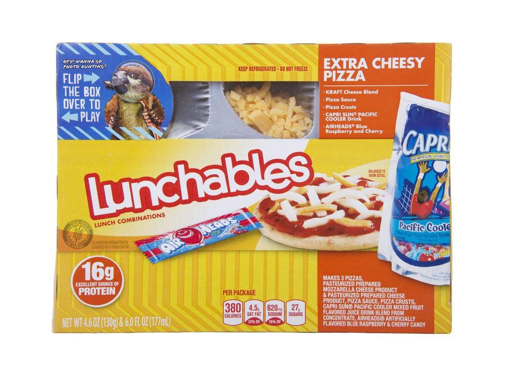'Snack' or 'lunch' packs are foods you should never buy again