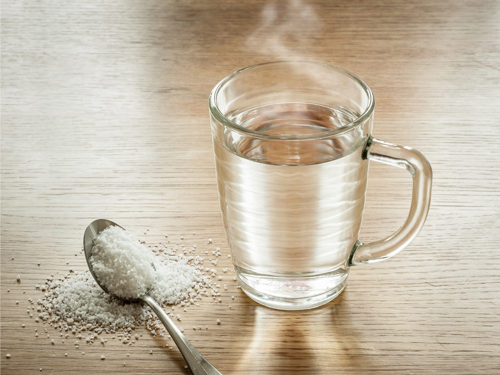 Salt mixed with hot water is a natural sore throat remedy.