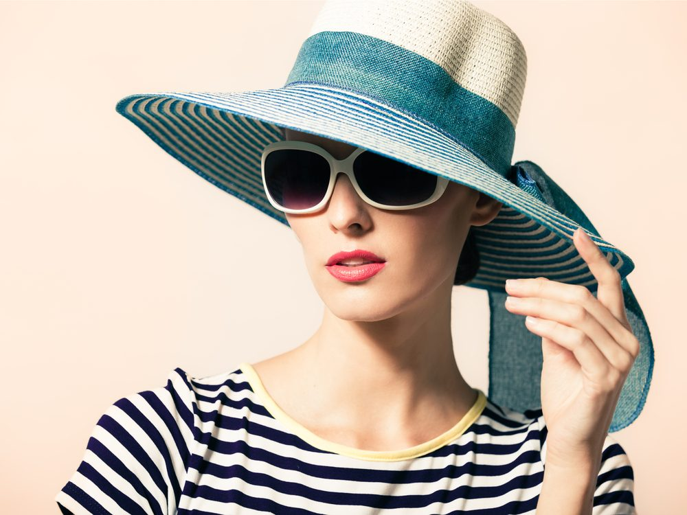 Using a hat and sunglasses is a natural way to provide relief from allergies