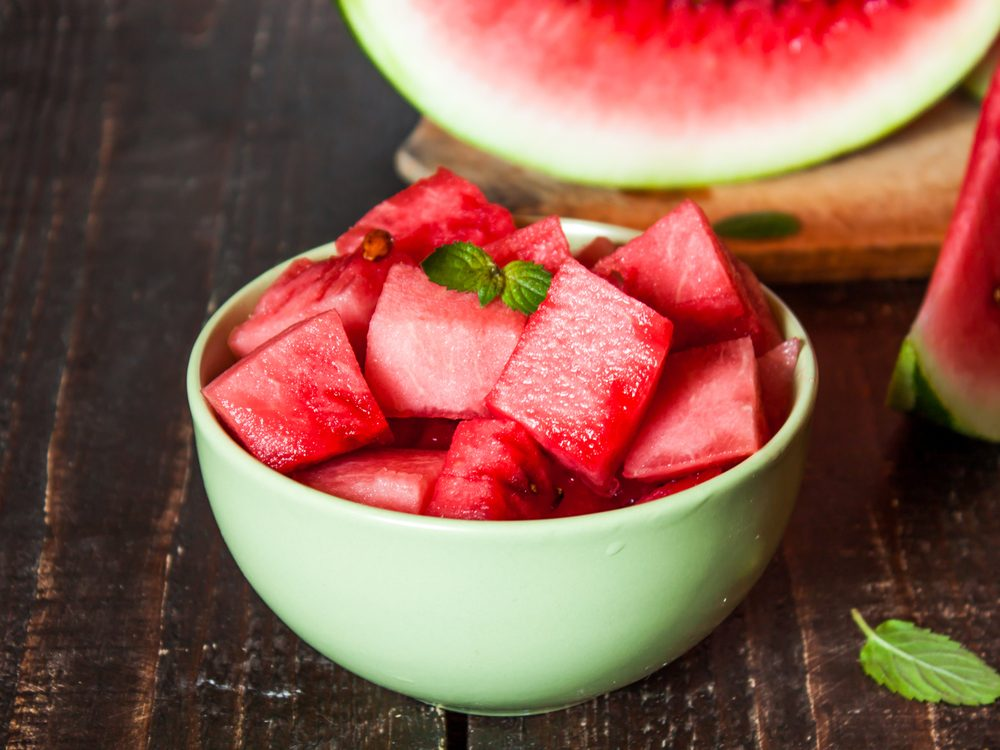 Watermelon is a no-guilt healthy snack