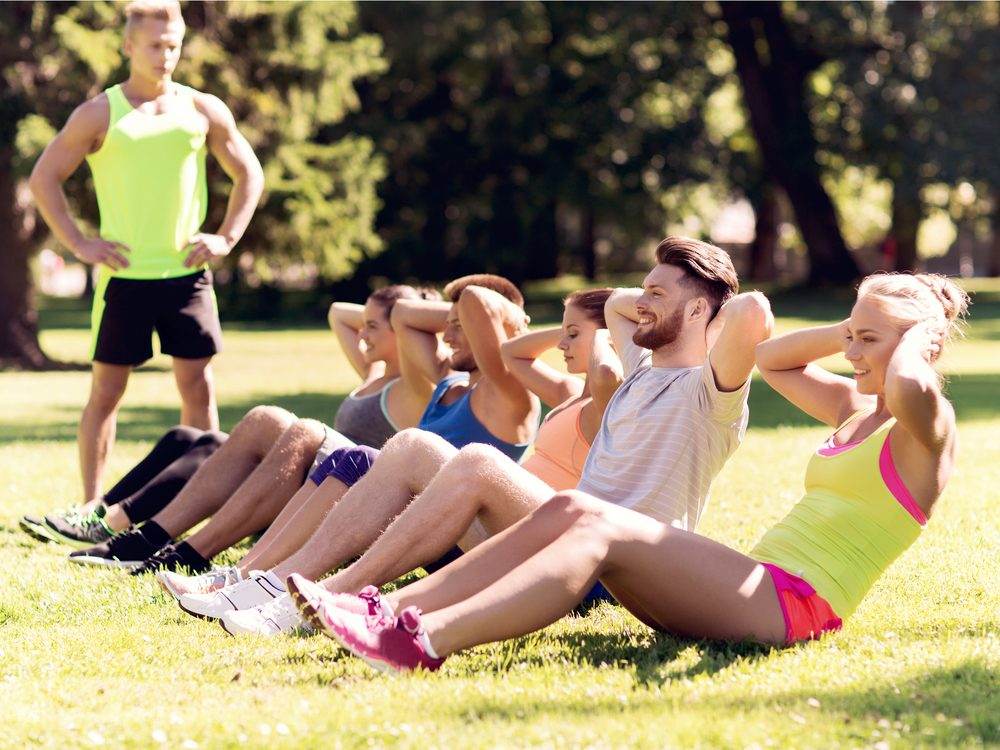 Taking a group exercise class is a natural way to increase endorphins