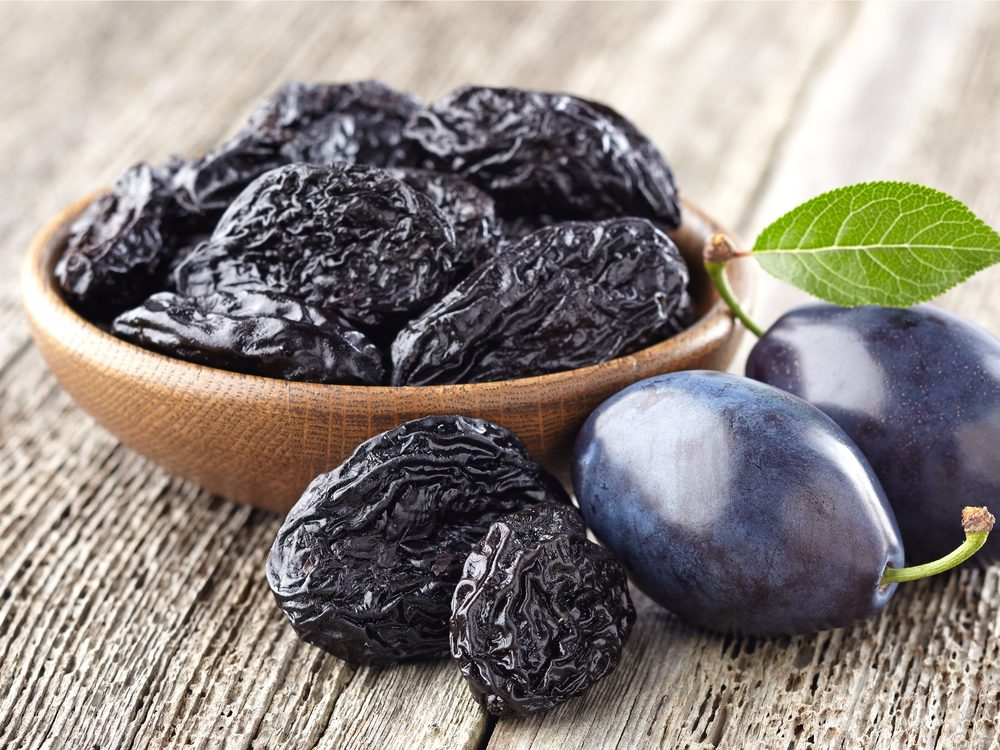 Eating prunes is a surprising home remedy for constipation.