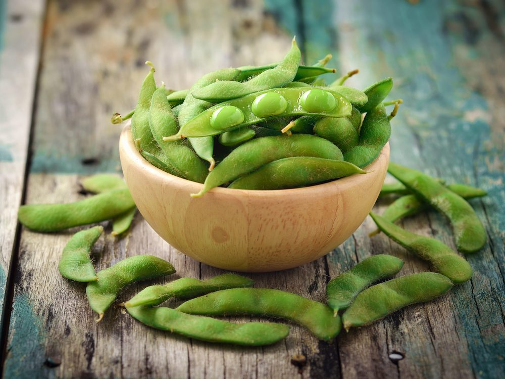 Edamame is a no-guilt healthy snack