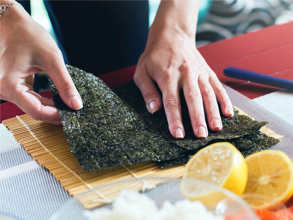 A seaweed wrap is a no-guilt healthy snack