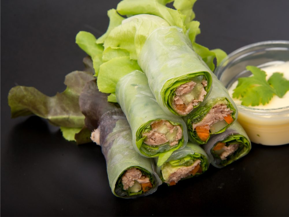 A turkey wrap is a no-guilt healthy snack