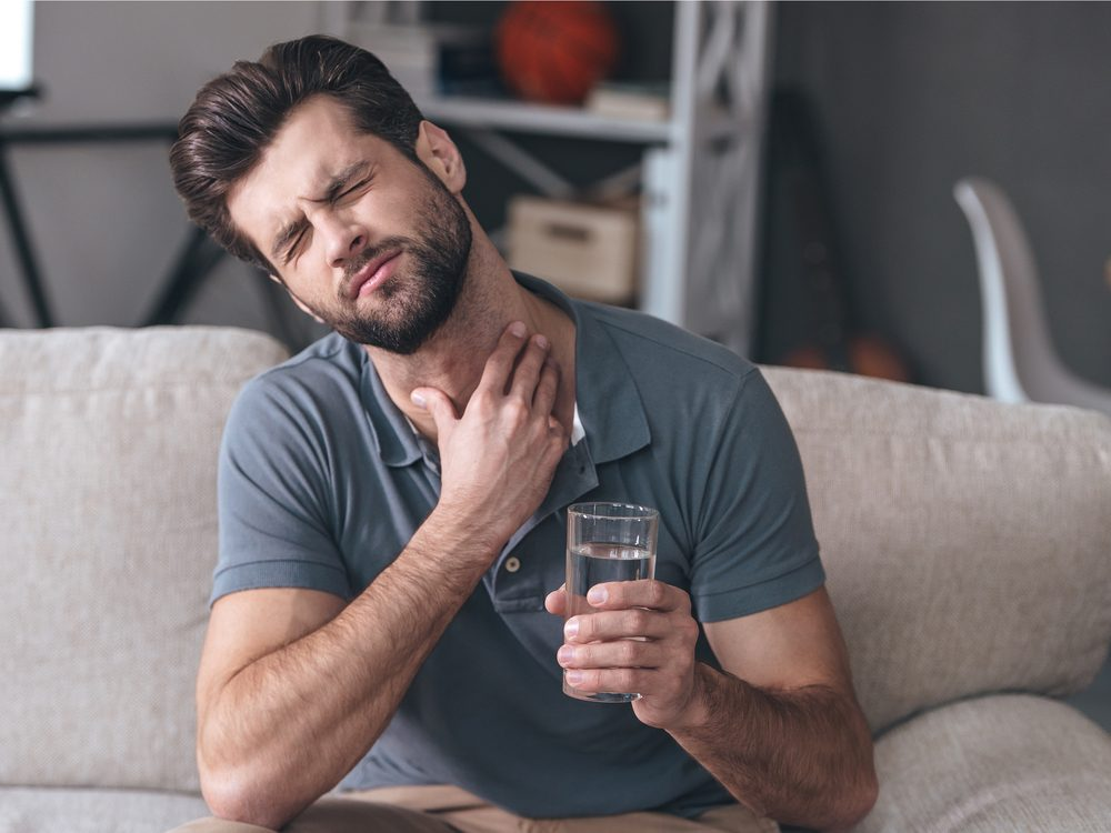 Difficulty swallowing is a sign of cancer that many men ignore
