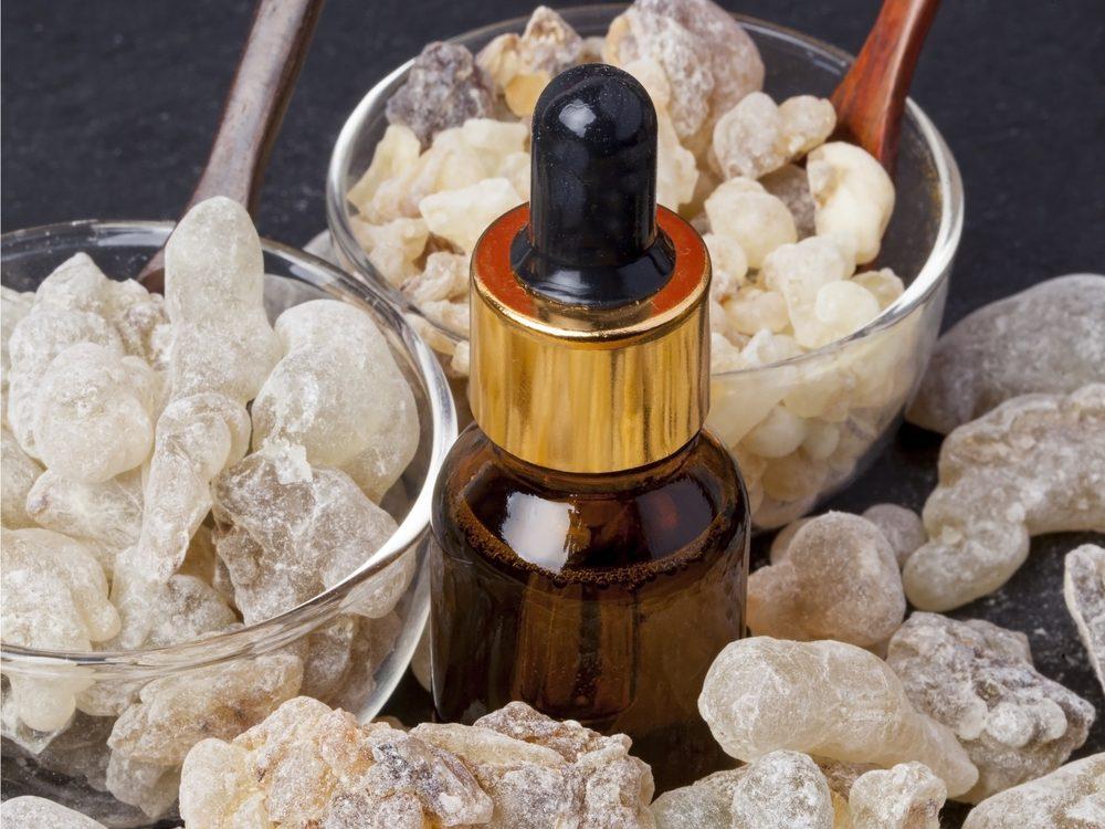 Myrrh is a natural sore throat remedy.