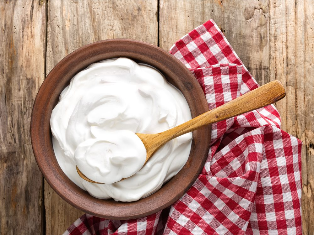 Yogurt is a natural upset stomach home remedy.
