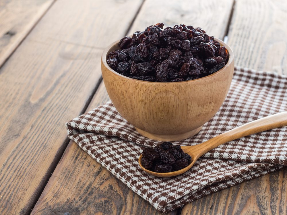 Eating raisins is a surprising home remedy for constipation.