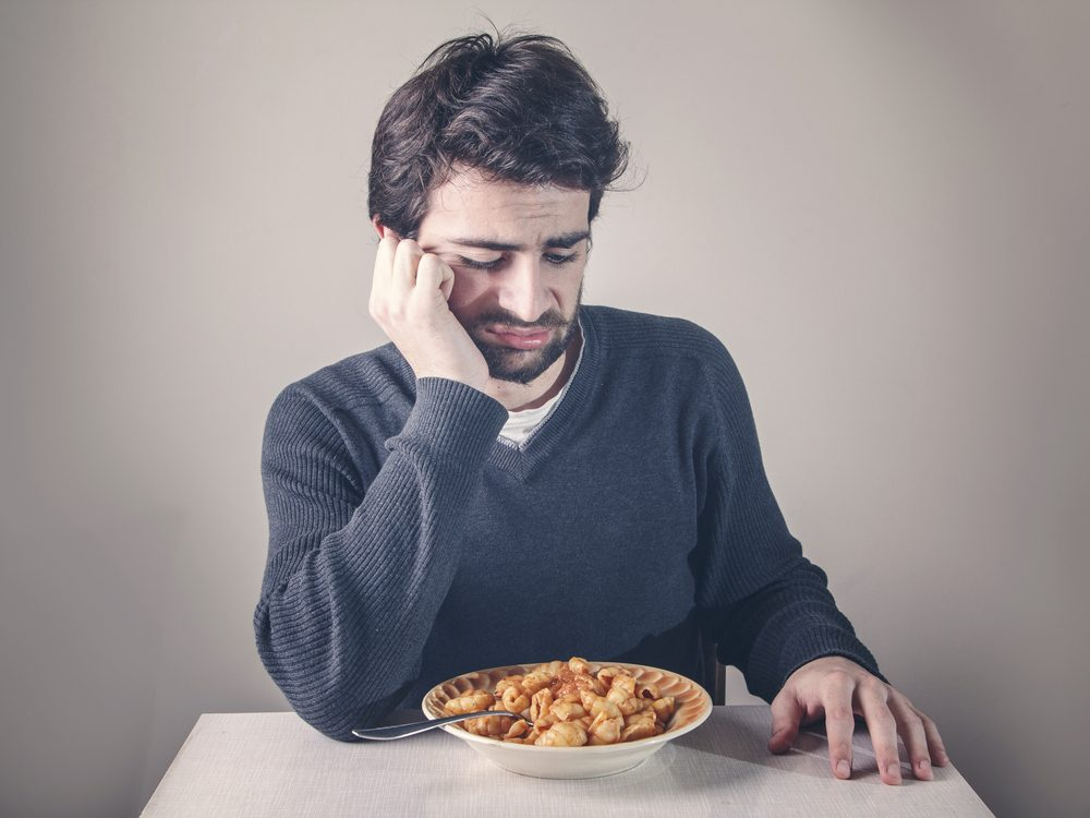 Loss of appetite is a sign of prostate cancer men should never ignore