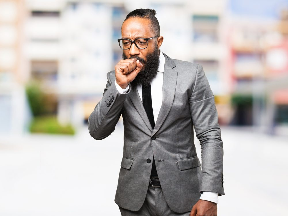 Chronic coughing is a sign of cancer that many men ignore