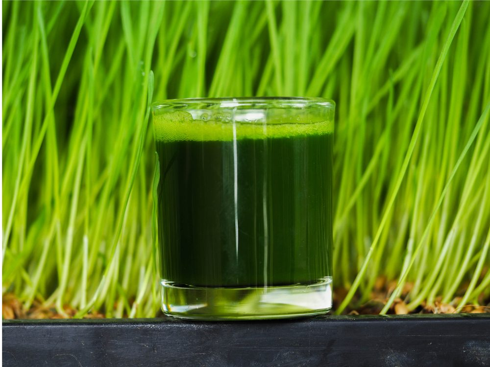 Wheatgrass juice is a natural sore throat remedy.