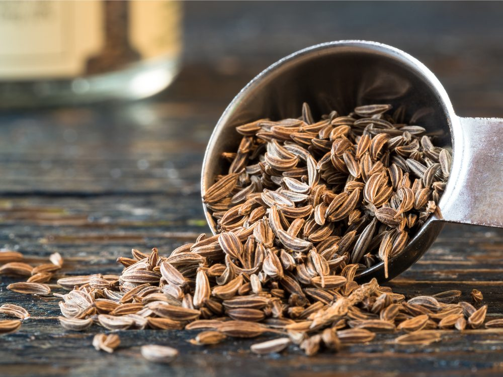 Caraway seeds are a natural upset stomach home remedy.