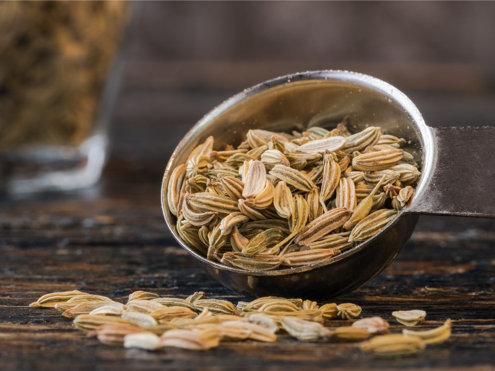 Fennel seeds are a natural upset stomach home remedy.