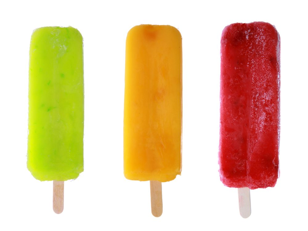 Premium frozen fruit bars are foods you should never buy again