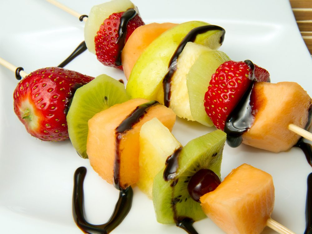 Fruit kebabs are a no-guilt healthy snack