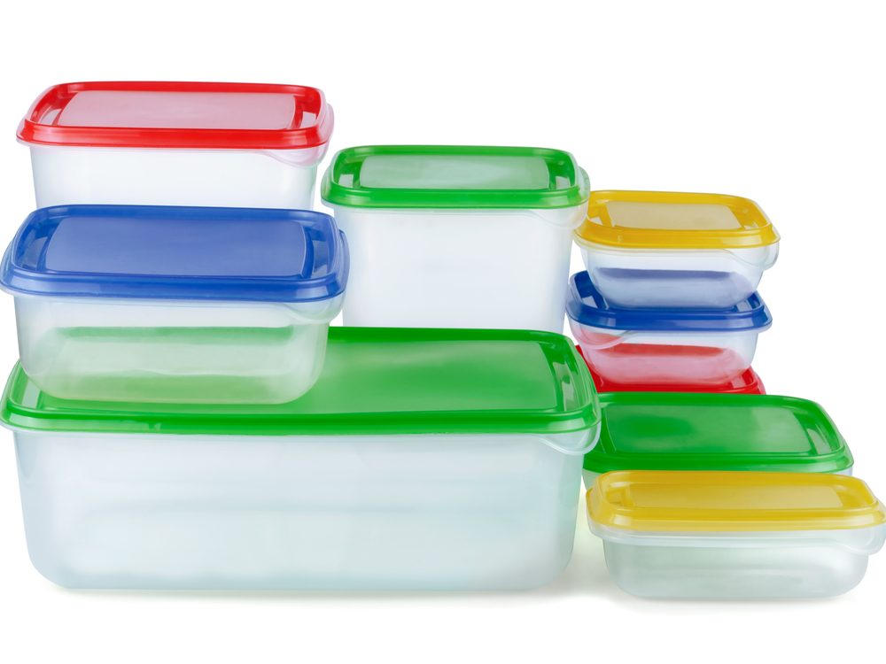 You should really never microwave plastic containers