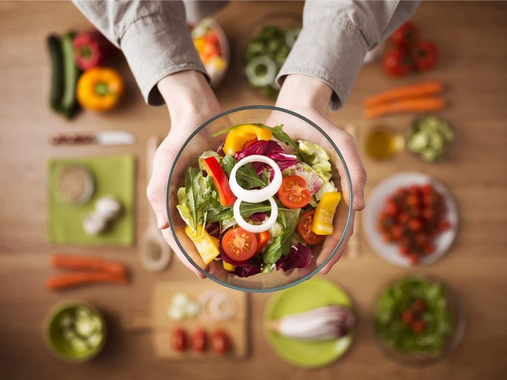 Raw healthy salad